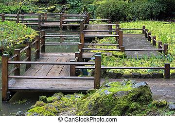 フィート橋, 日本の庭
