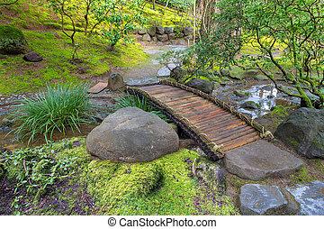 フィート橋, 竹, 上に, 入り江