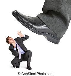 フィート, 大きい, 企業家, 小さい, 押しつぶす, 危機