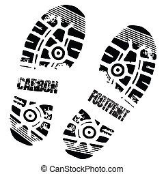 フィート, 炭素, 印刷, 靴