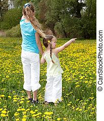 フィールド, 子供, flower.