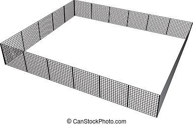 フェンス, 長方形
