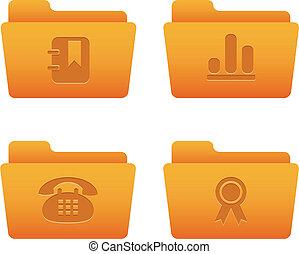 フォルダー, 07, アイコン, インターネット, オレンジ, |