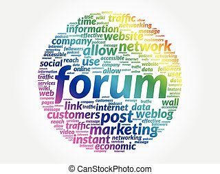 フォーラム, ビジネス 概念, 単語, タグ