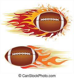 フットボール, アメリカ, 炎