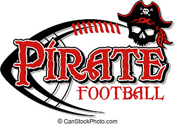 フットボール, デザイン, 海賊, 頭骨