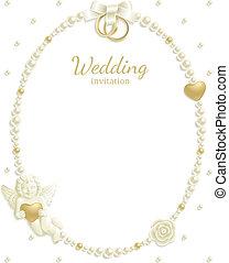 フレーム, 宝石, 結婚式