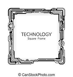 フレーム, 広場, 技術, design.