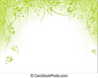フレーム, 群葉, 緑
