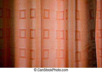 ブラウン, パターン, カーテン, 美しい
