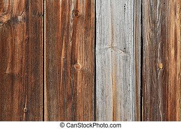 ブラウン, 古い, 木製である, 型, 手ざわり, 背景