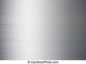 ブラシをかけられる, 銀, 背景, 金属
