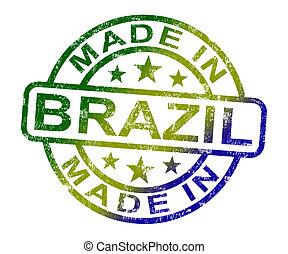 ブラジル, プロダクト, 作られた, 切手, 産物, ブラジル人, ∥あるいは∥, ショー