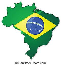 ブラジル, 地図, 旗