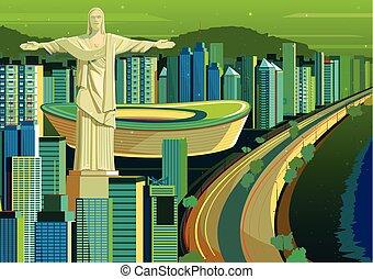 ブラジル, 救助者, キリスト, 像