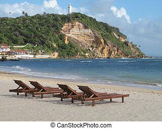 ブラジル, 浜。, sao, サルバドール, de, morro, da, paulo, bahia.