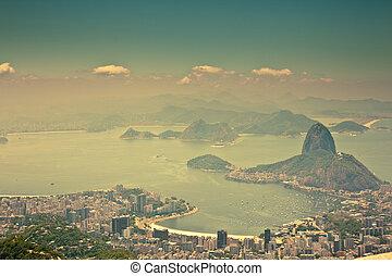 ブラジル, 都市, janeiro, 光景, de, corcovado, リオ