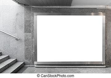 ブランク, 広告板, ホール