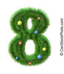 ブランチ, 作られた, クリスマスツリー, 8, 数