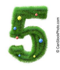 ブランチ, 5, 作られた, クリスマスツリー, 数