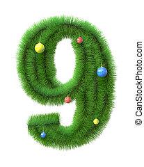 ブランチ, 9, 作られた, クリスマスツリー, 数