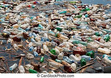プラスチックのビン, 汚染