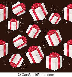プレゼント, パターン, 箱, ベクトル, seamless