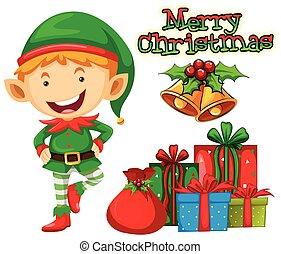 プレゼント, 妖精, クリスマス