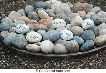 プレート, 岩, 言葉, 知恵