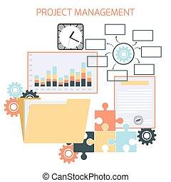プロジェクト, 平ら, 管理, デザイン