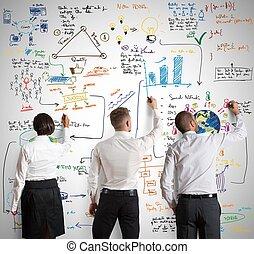 プロジェクト, 新しい, チームワーク, ビジネス