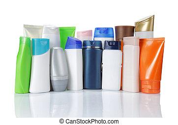 プロダクト, グループ, 上に, 隔離された, packaging., 背景, 白