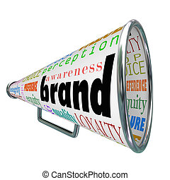 プロダクト, ブランド・ロイヤリティー, 広告, メガホン, 認識, 建造しなさい