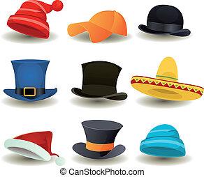 ヘッドホン, 帽子, 上, 他, ウエア, 帽子
