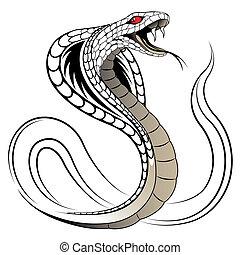 ヘビ, ベクトル, コブラ