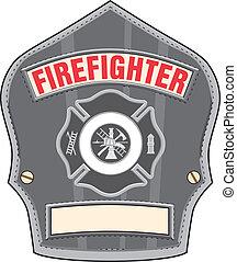 ヘルメット, 消防士, バッジ