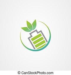 ベクトル, アイコン, ロゴ, エネルギー, bio