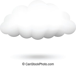 ベクトル, イラスト, 雲