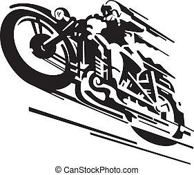 ベクトル, オートバイ, 背景