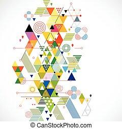ベクトル, カラフルである, 抽象的, イラスト, 創造的, 背景, 幾何学的