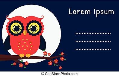 ベクトル, カード, owl.