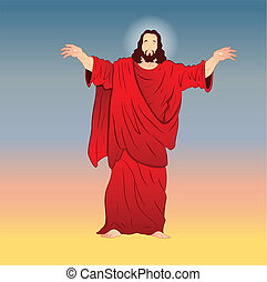 ベクトル, キリスト, イラスト, イエス・キリスト