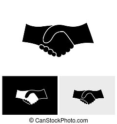 ベクトル, グラフィック, ビジネス, &, -, 手, 概念, 黒, 振動, 白, アイコン
