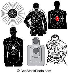 ベクトル, セット, 射撃目標, 6