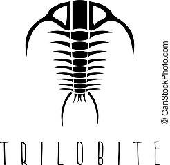 ベクトル, テンプレート, trilobite, 化石, 時代, デザイン, paleozoic, 節足動物