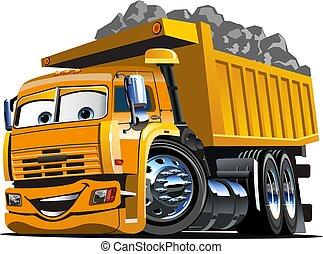 ベクトル, トラック, 漫画, ゴミ捨て場