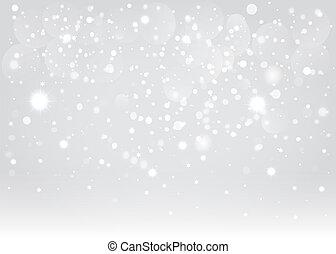 ベクトル, バックグラウンド。, bokeh, eps10., 雪