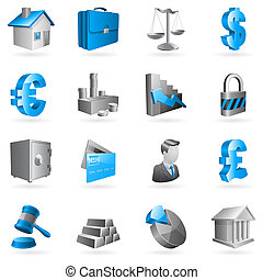 ベクトル, ビジネス, icons.