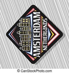ベクトル, ロゴ, アムステルダム