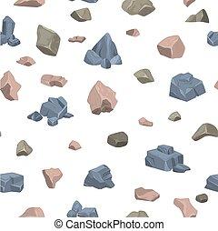 ベクトル, 山, stoniness, セット, 岩が多い, パターン, ロッキーズ, seamless, 地質, 材料, 山が多い, イラスト, 背景, 岩石, rockstone, ミネラル, 石, 崖